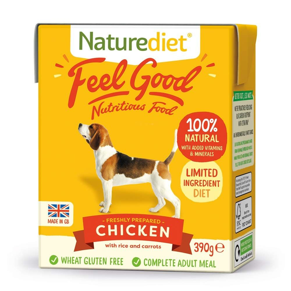 36x390g Chicken, Veg & Rice Naturediet Feel Good Adult Wet Dog Food