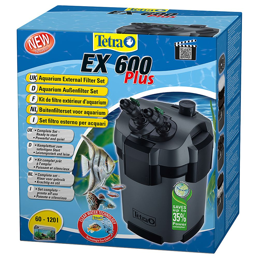 Tetra EX Plus External Filter - EX 600 Plus for 60 - 120 litre aquariums