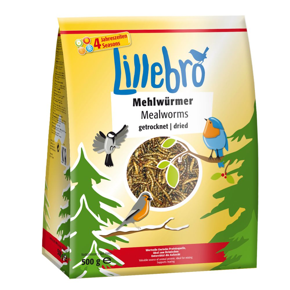 Lillebro Vers de farine séchés pour oiseaux - 2 kg