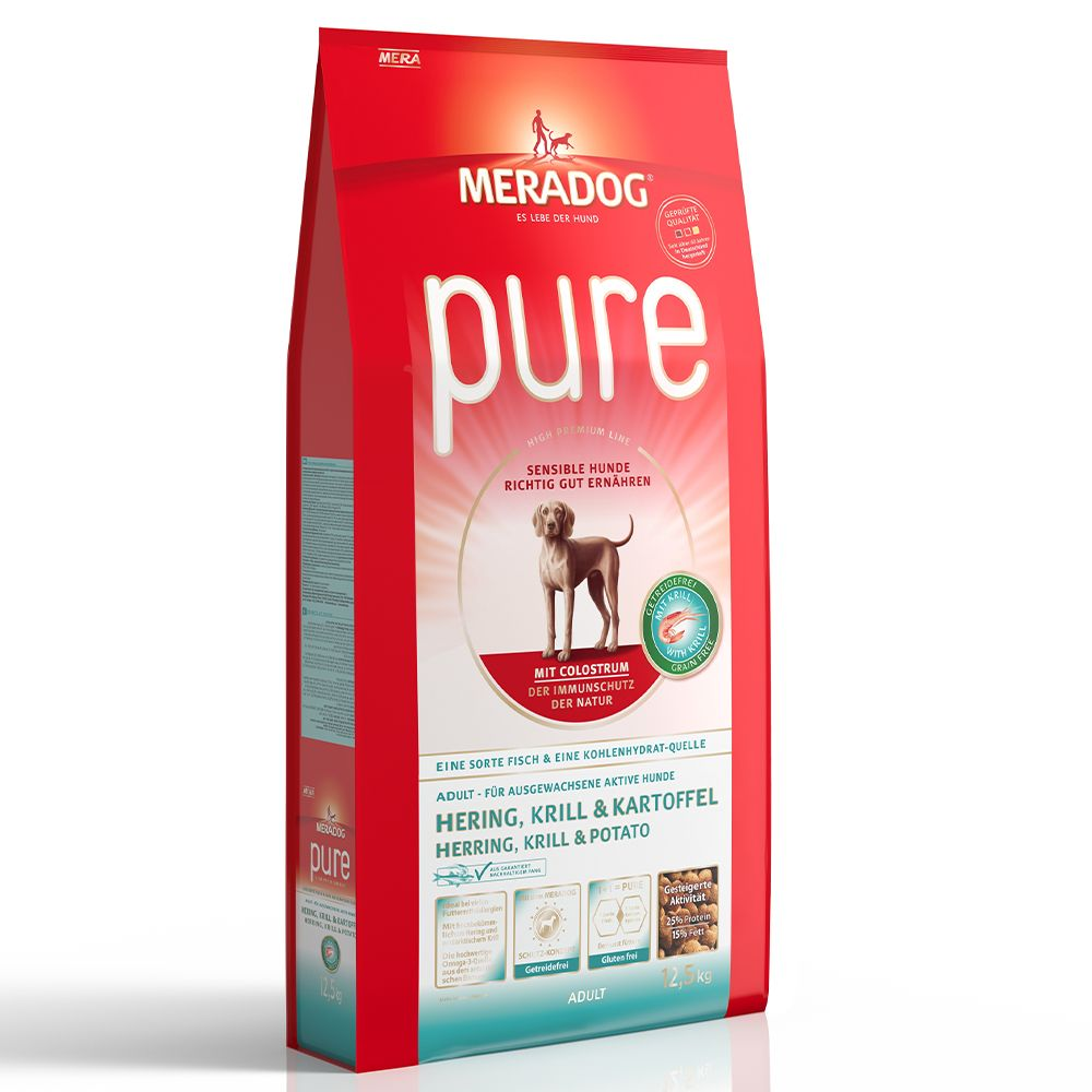 Mera Dog pure Herring, Krill & Potato Grain-Free - 12.5kg