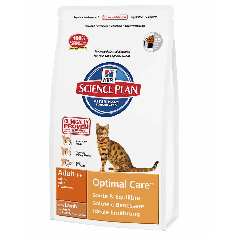 Hill's Science Plan Adult Cat Optimal Care - Lamb - Economy Pack: 2 x 10kg