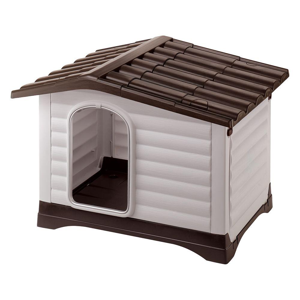 Ferplast Kunststoffhundehütte Dogvilla - Dogvilla 110: L 111 x T 84 x H 79 cm