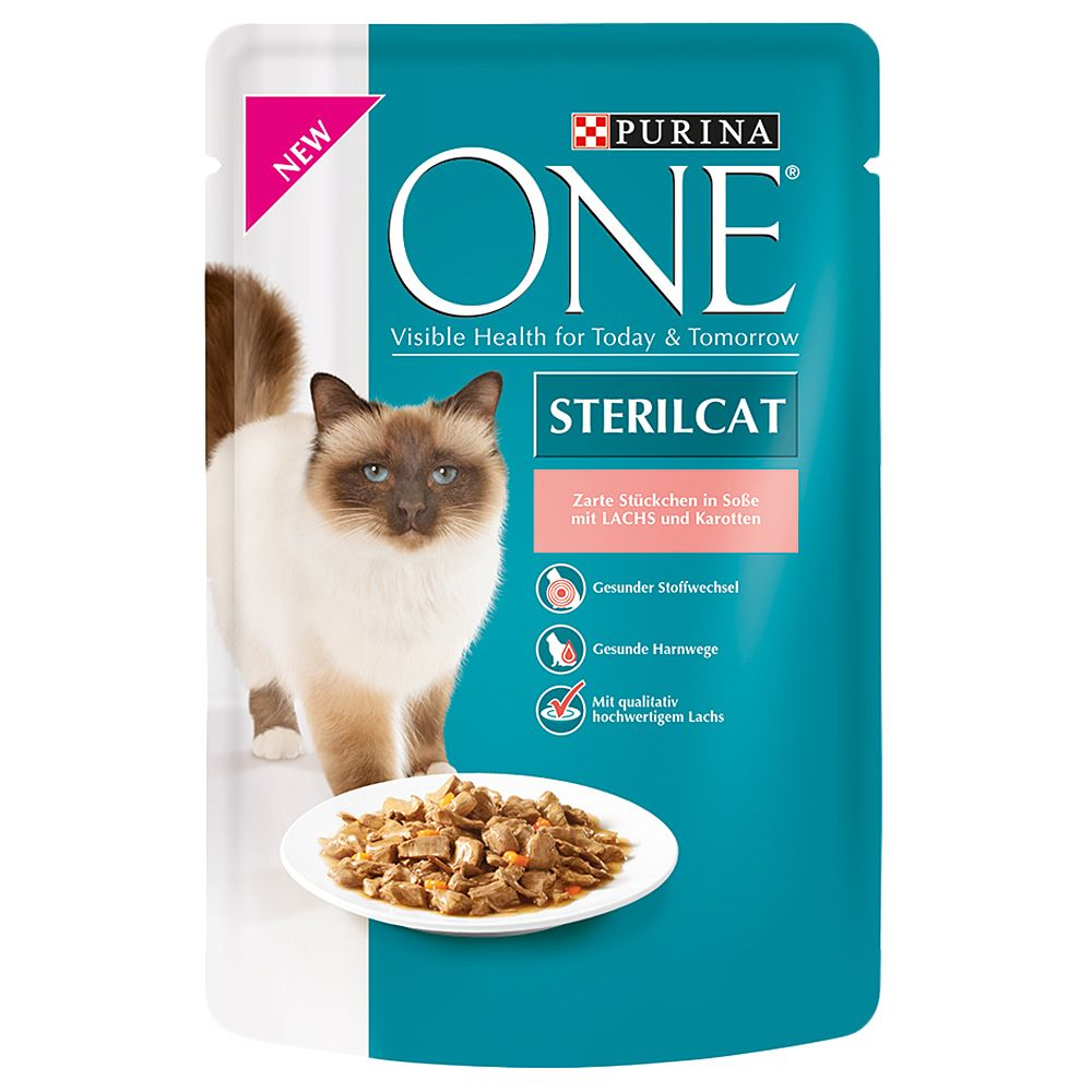 Purina ONE Sterilised - 8 x 85g Turkey