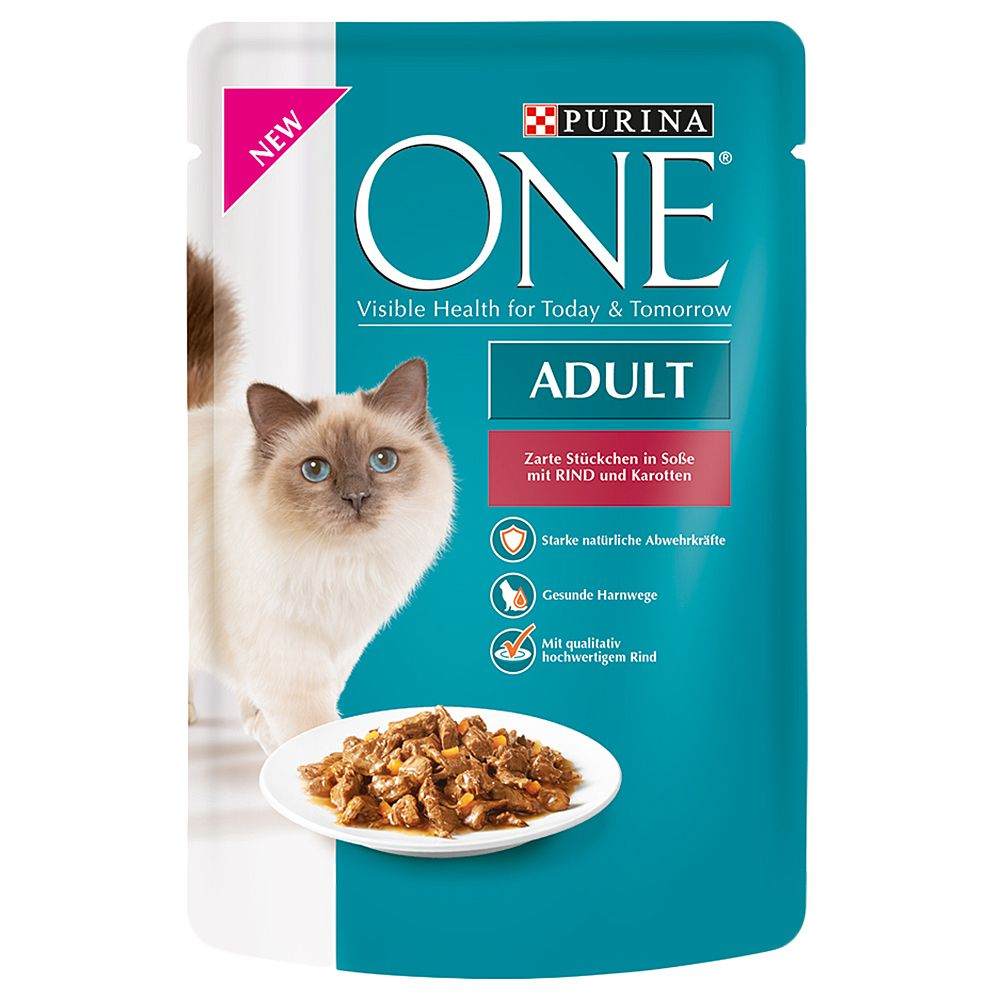 Purina ONE Adult - 8 x 85g Beef in Gravy