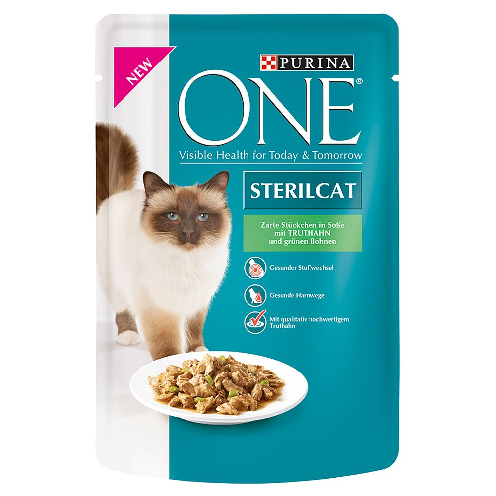 Purina ONE Saver Pack 32 x 85g - Sterilised Salmon