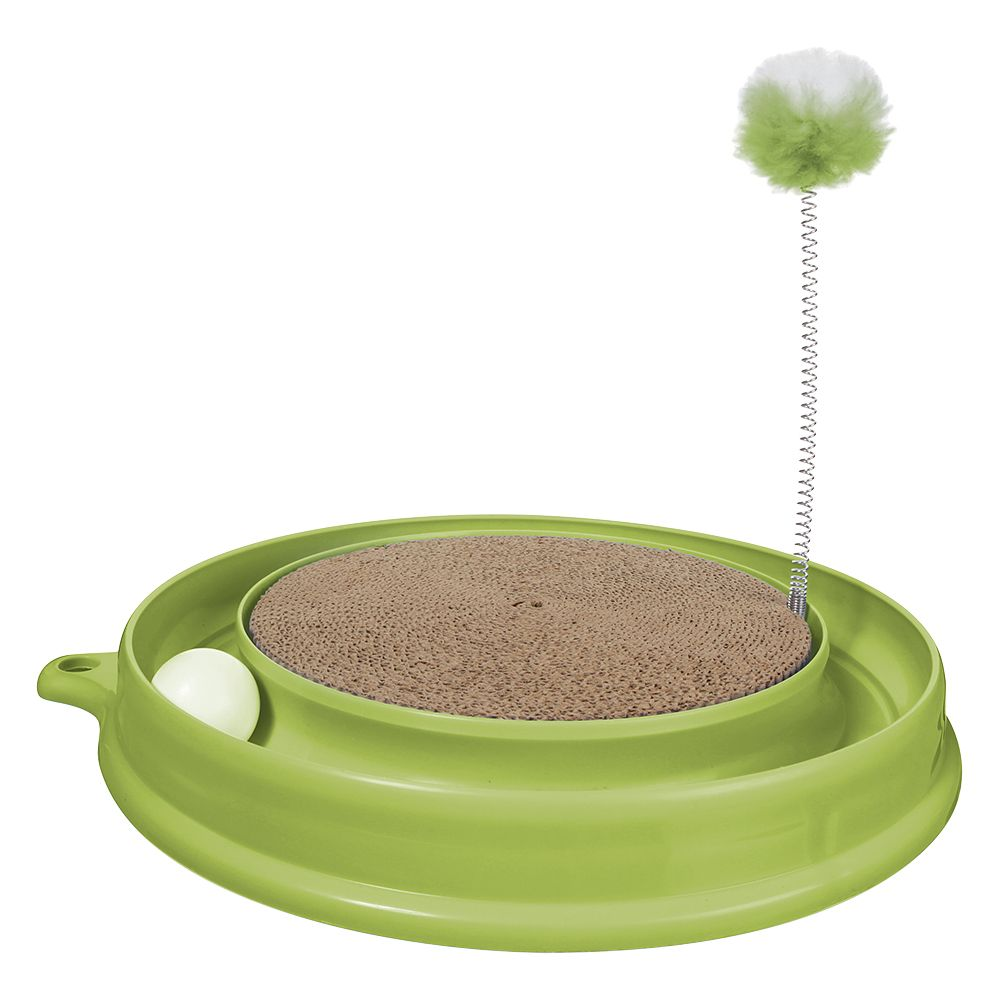 Catit Play-n-Scratch Cat Toy - Green