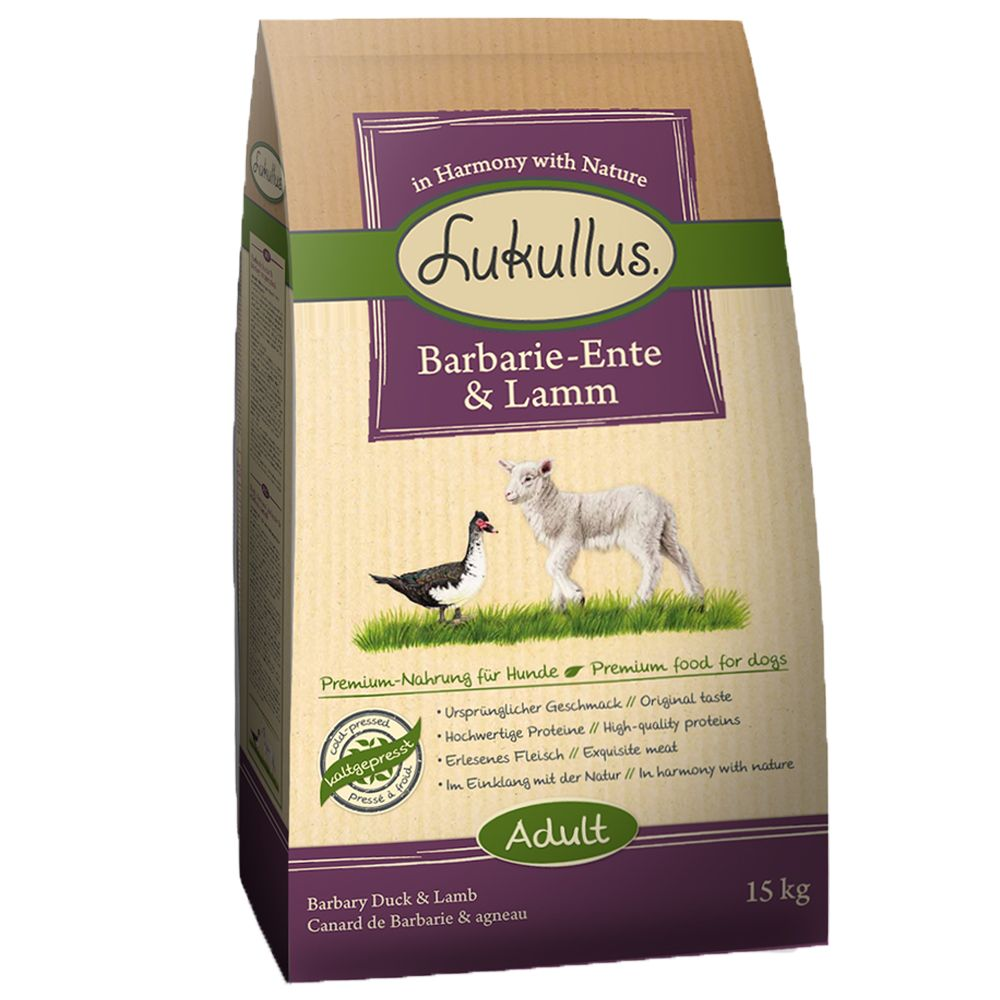 Lukullus Dog Food Barbary Duck Lamb - 15kg