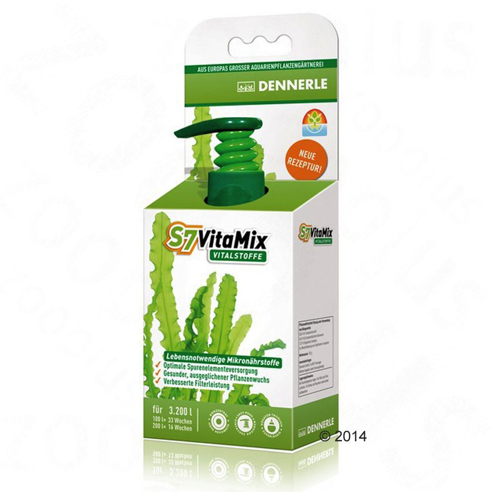 Dennerle S7 VitaMix Substances Vitales - 100 mL (pour 3 200 L d´eau)