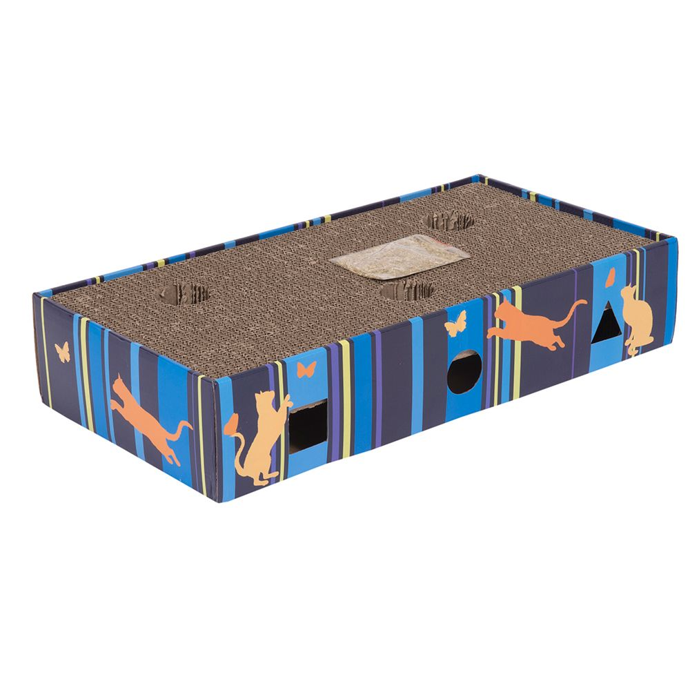 Scratch and Play Cardboard Cat Furniture - 45.5 x 24 x 9.3 cm (L x W x H)