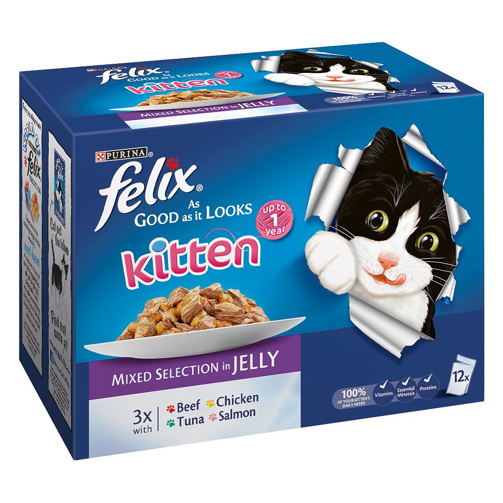 Felix Kitten As Good As It Looks - Saver Pack: Mixed Selection (24 x 100g)