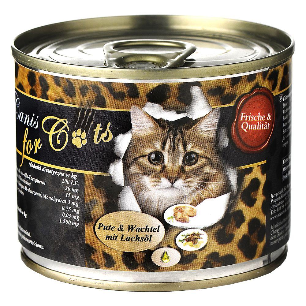 O´Canis for Cats 6 x 200 g – Gås kyckling & safflorolja