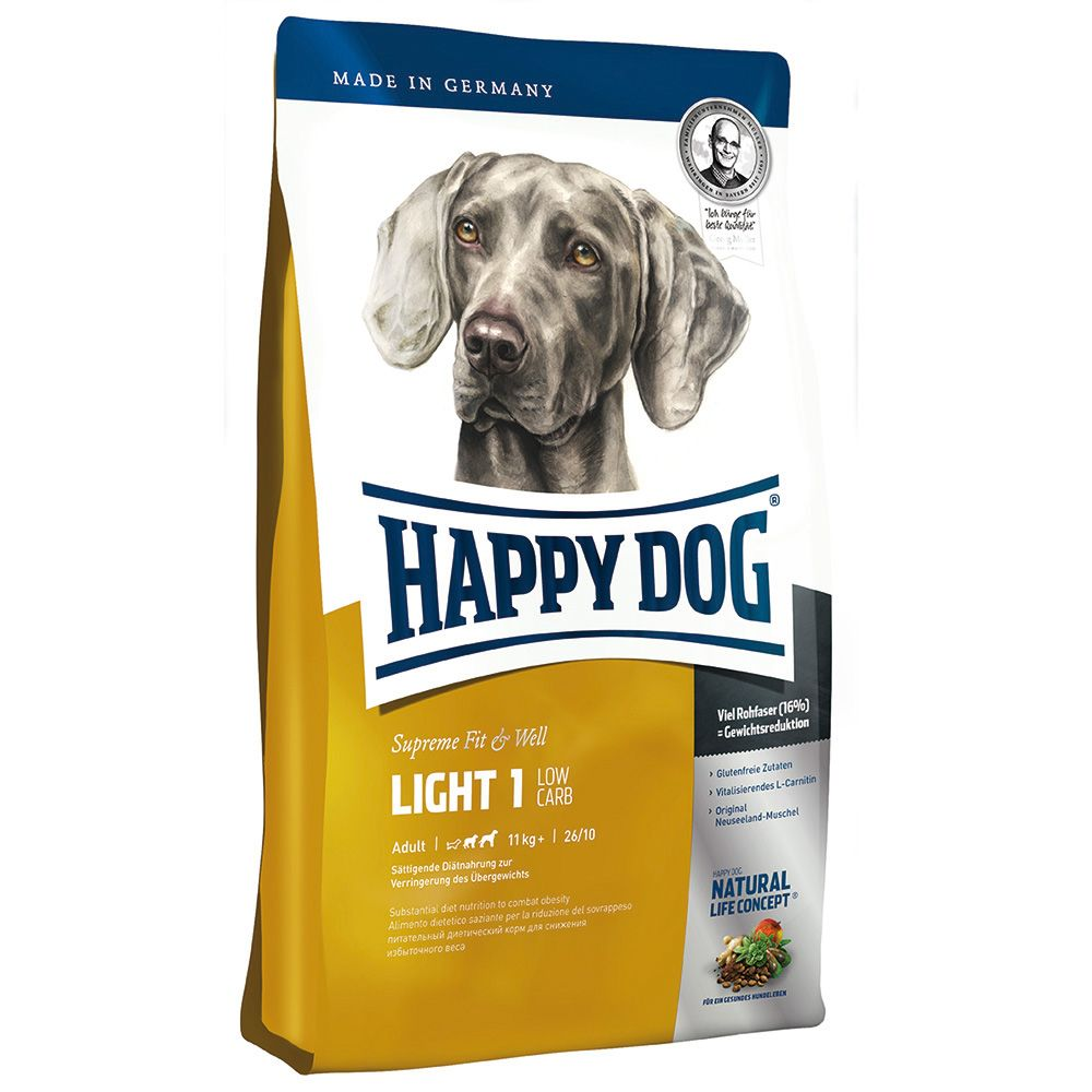 Happy Dog Supreme Fit & Well Light 1 - Low Carb - Economy Pack: 2 x 12.5kg