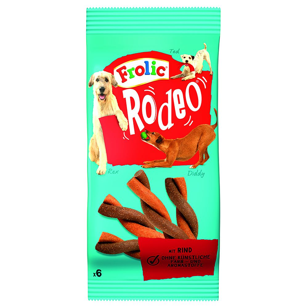 Frolic Rodeo Dog Treats - Saver Pack: Beef 3 x 105g