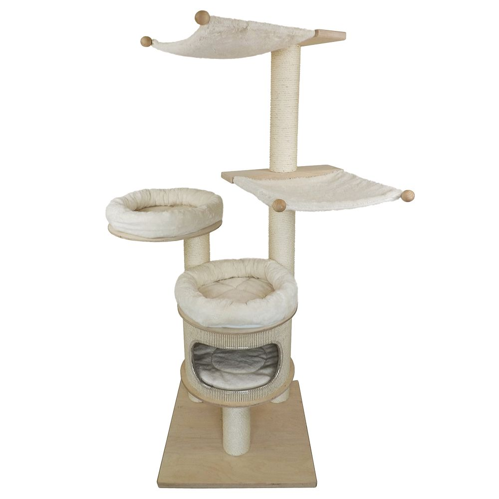 The robust Iris Pet Fun Cat Tree is made from high-quality materials and offers your cat loads of space to climb and play. The round snuggle beds and soft hammocks...