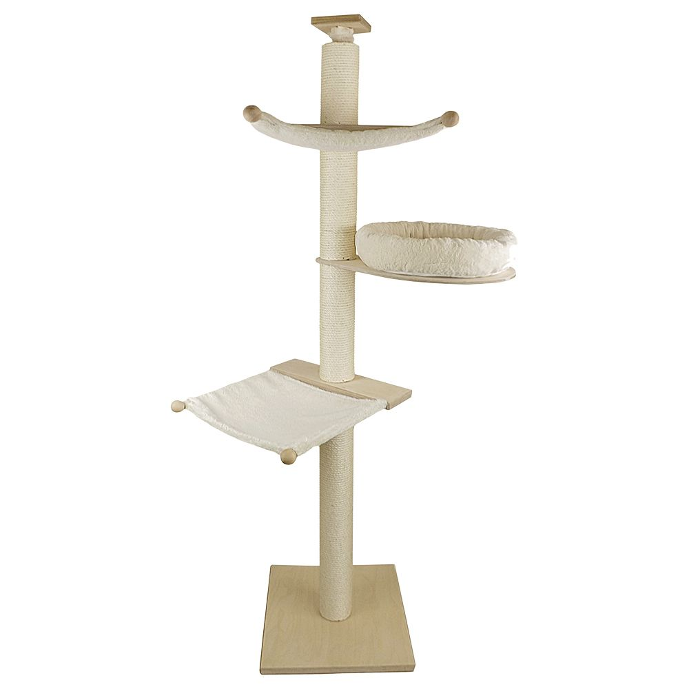 The compact Paula Pet Fun Cat Tree can be securely fixed between your floor and ceiling, making it an especially sturdy cat playground. Your cat will love climbing...