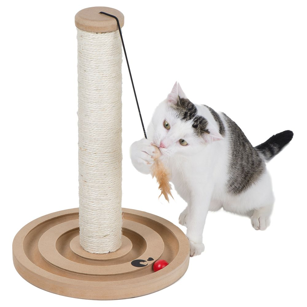 zoolove Play 'n Scratch Post - Natural