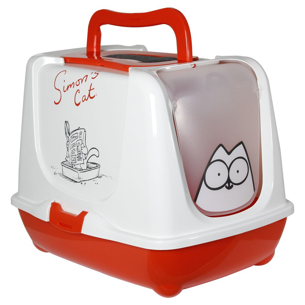 Simon's Cat Kattenbak Rood Wit