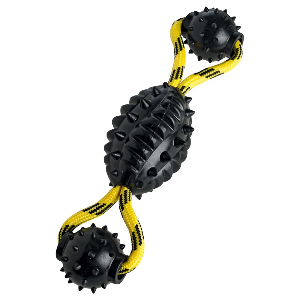 30 x 7cm Hunter Spike Ball Rope Dog Toy