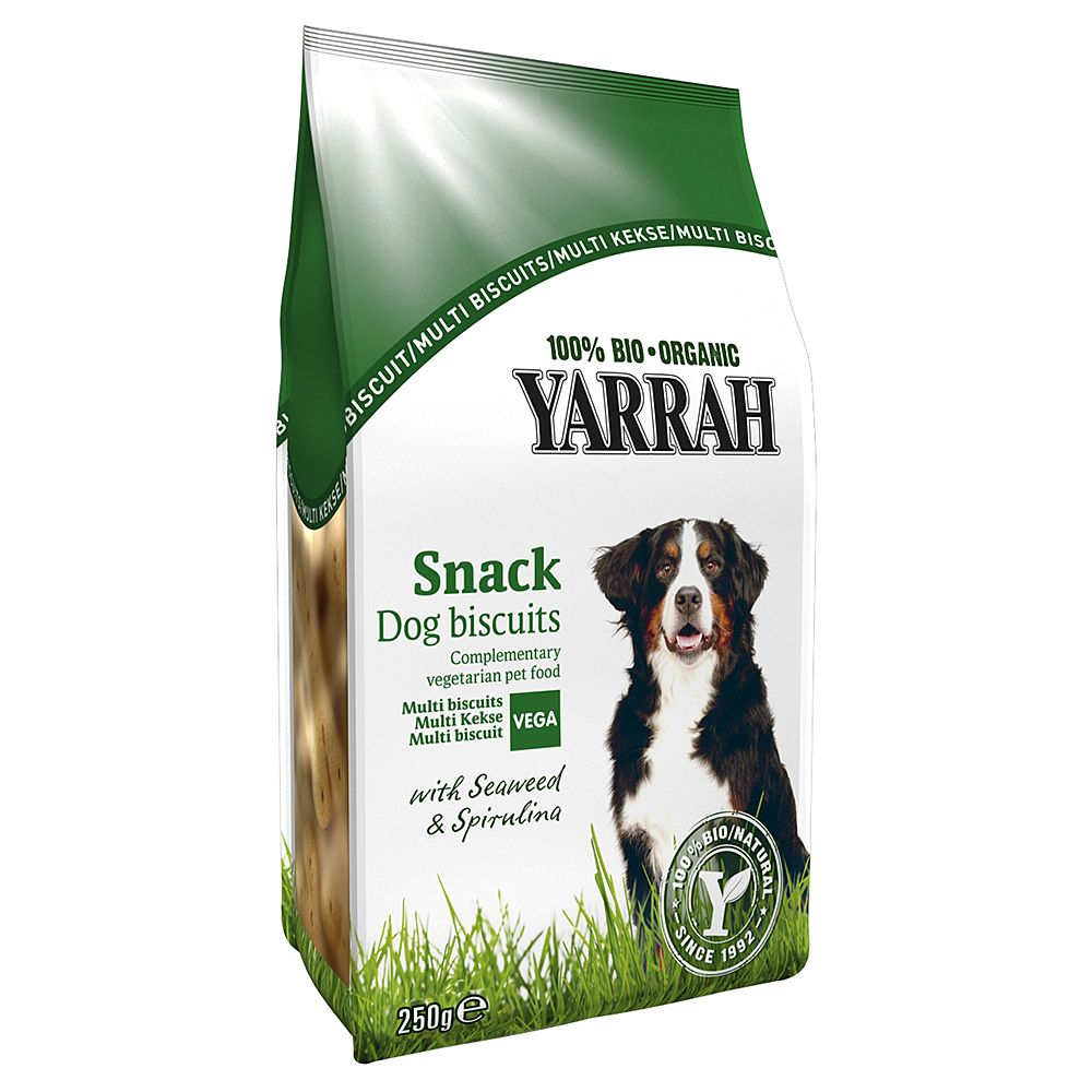 Yarrah Organic Vegetarian Multi Dog Biscuits - 250g