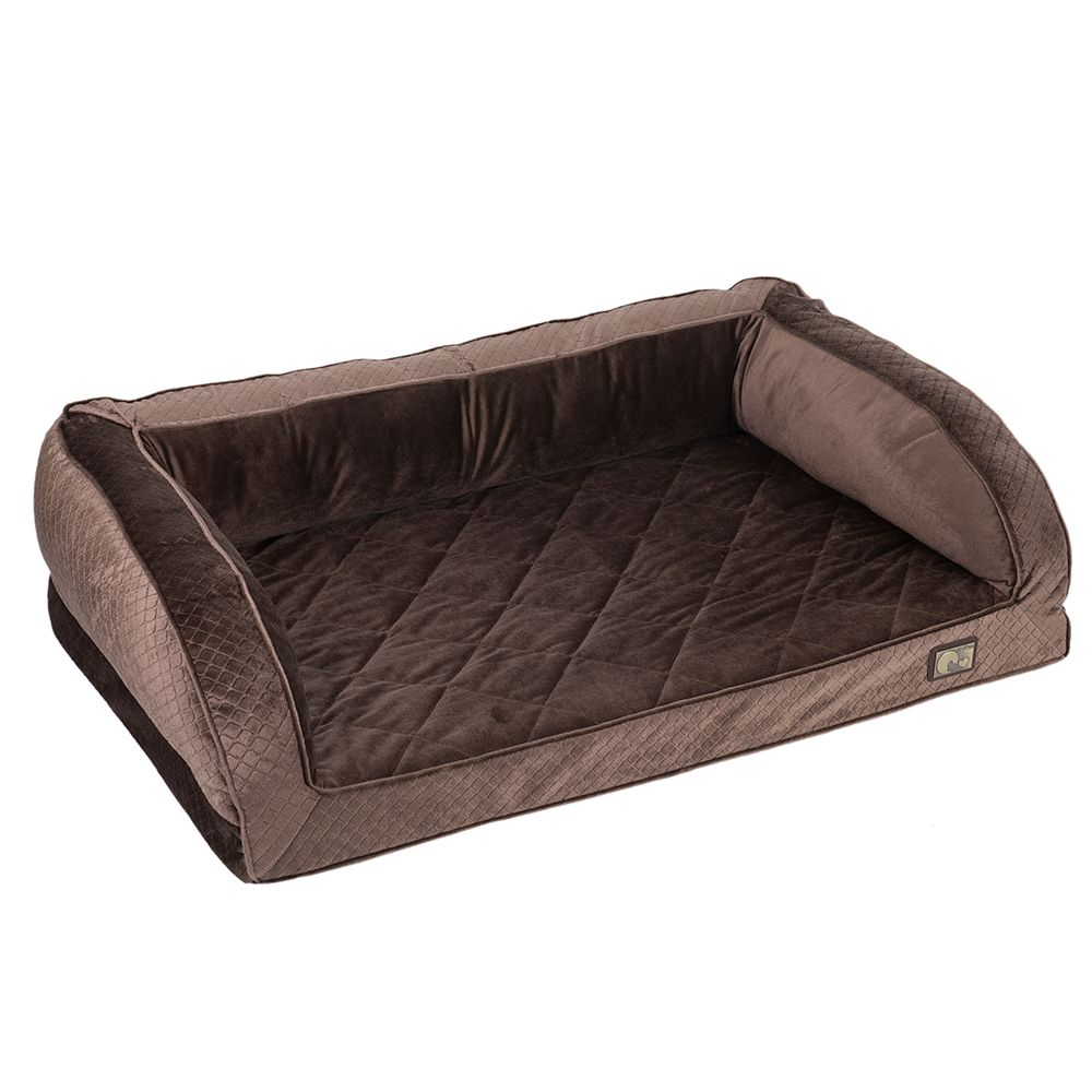 zoolove Wellness Snuggle Sofa - Brown - 100 x 65 x 30 cm (L x W x H)