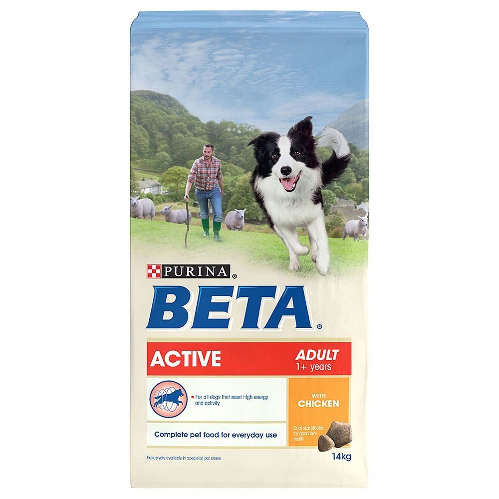 BETA Active - 2 x 14kg (BETA) Dog Chow *