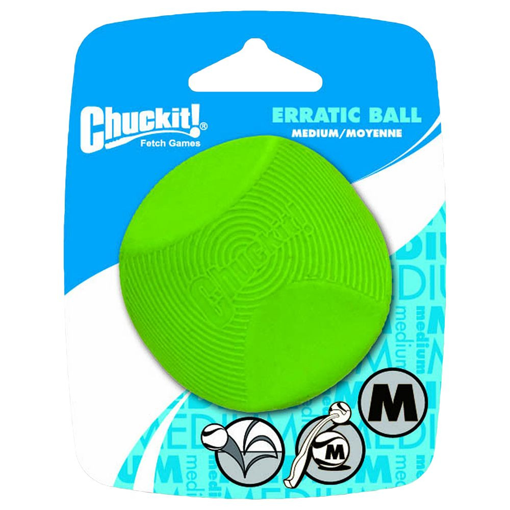 Chuckit! Erratic Ball Dog Toy - Size M: Diameter 6.5cm