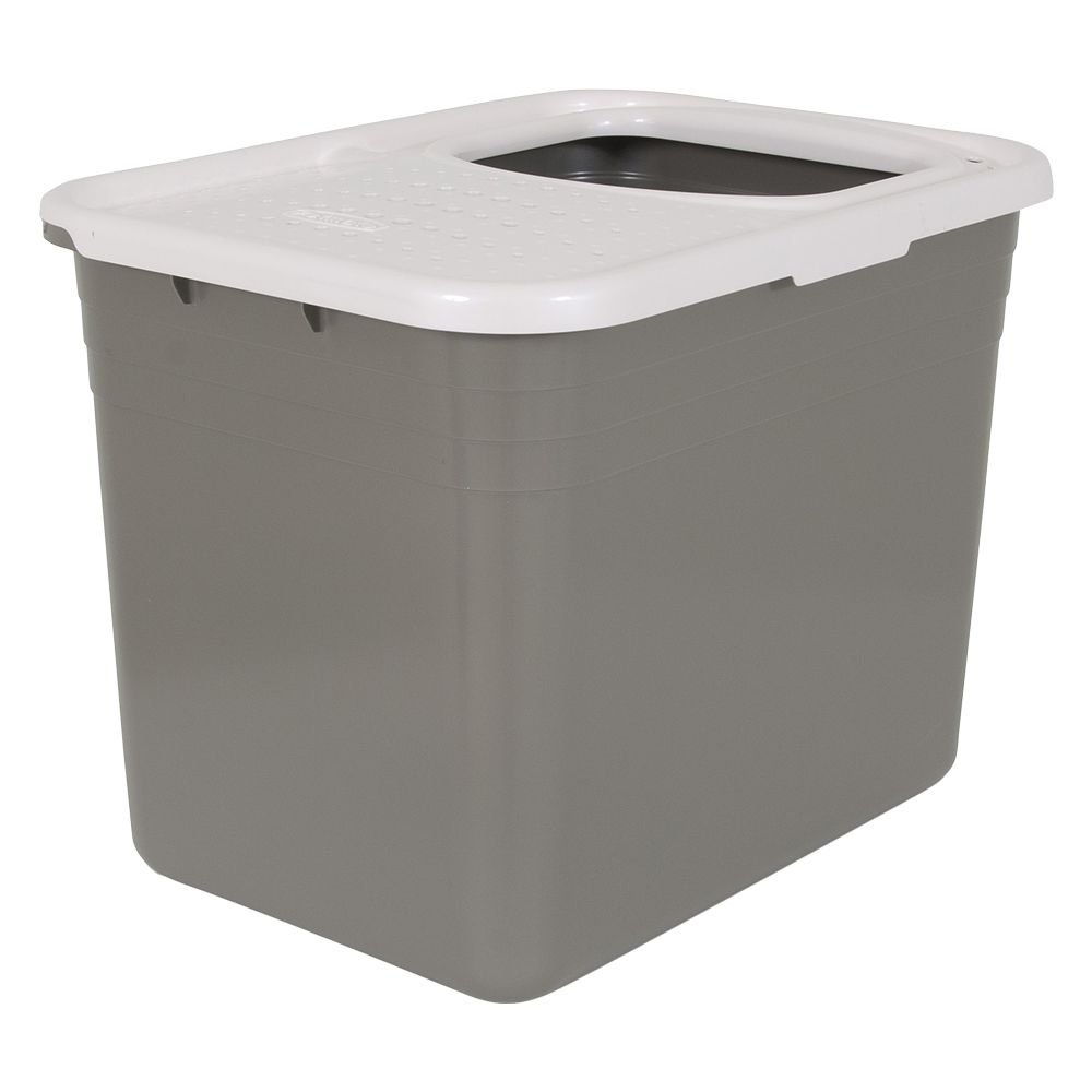 Petmate Top Entry Cat Litter Box - Anthracite/ Light Grey