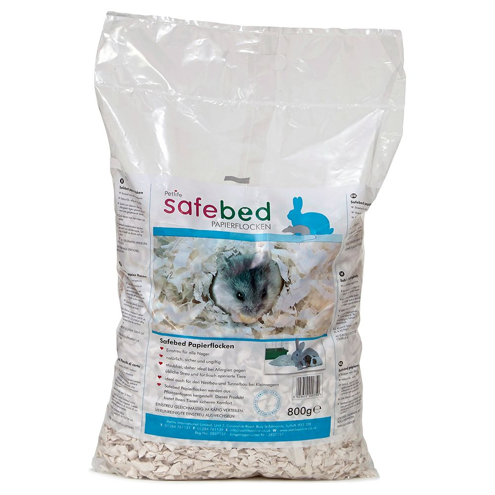 Petlife Safebed Shredded Paper Economy Pack: 3 x 800g