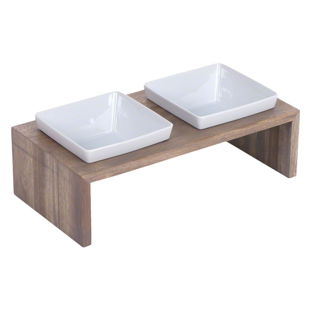 Replus Meshidai True Double Ceramic Bowl – slate grey - 2 x 0.9 litre
