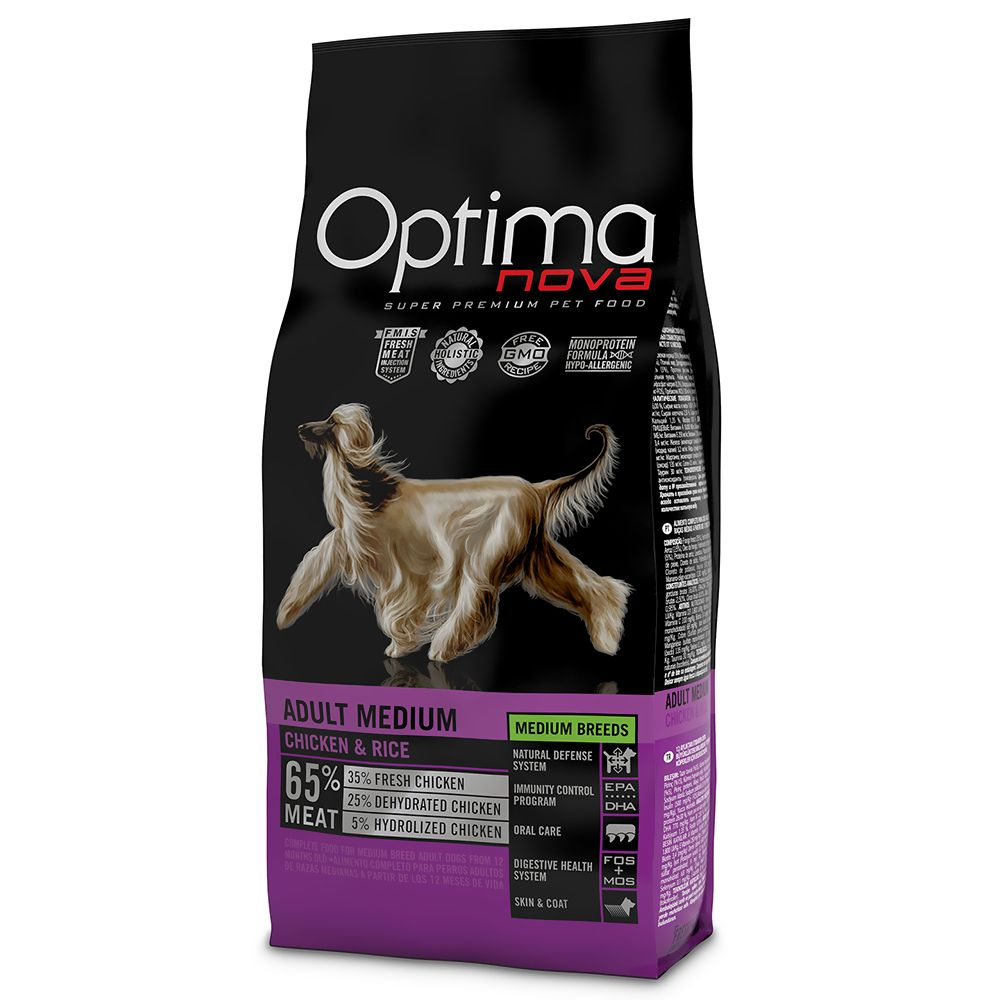 Optimanova Medium Adult Chicken & Rice - 12kg