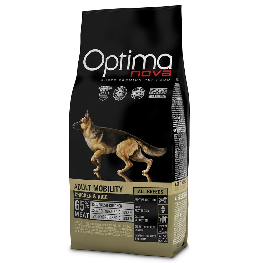 12kg Mobility Chicken & Rice Optimanova Dry Dog Food
