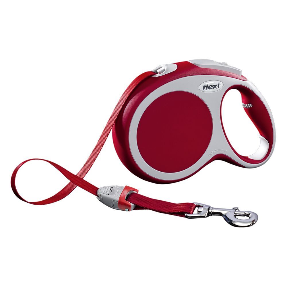 flexi Vario Tape Lead Large - Red 8m - Red 8m
