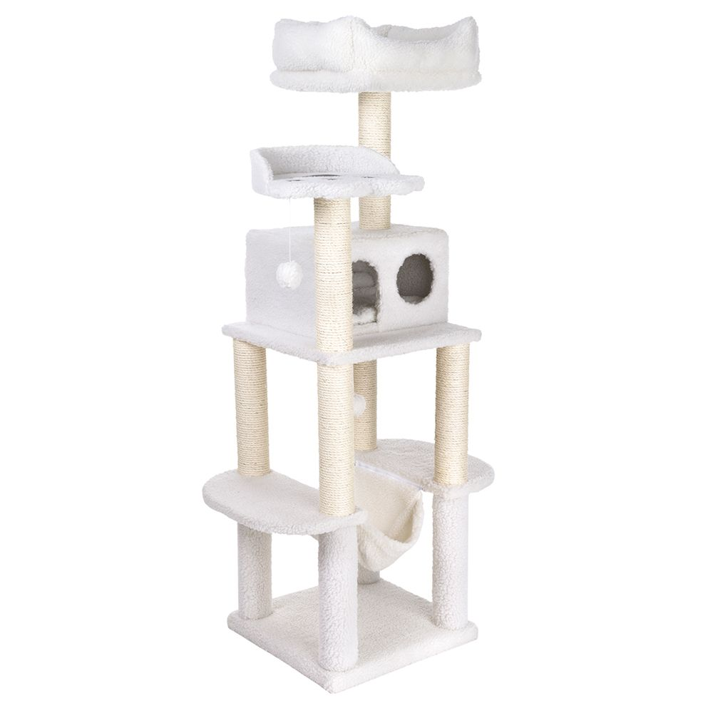Fluffy II Cat Tree - Wool White