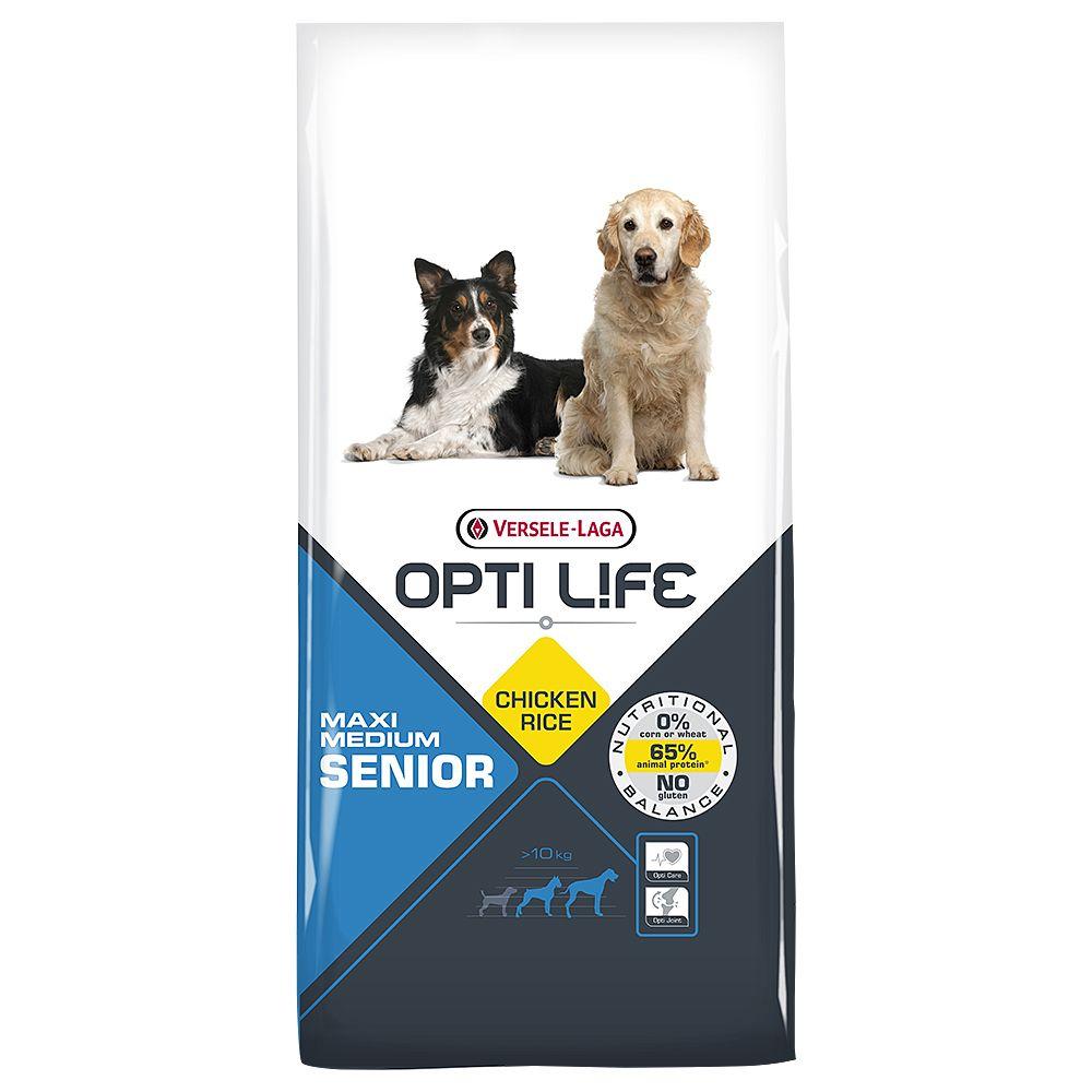 12,5kg Medium Maxi Senior Opti Life - Croquettes pour chien