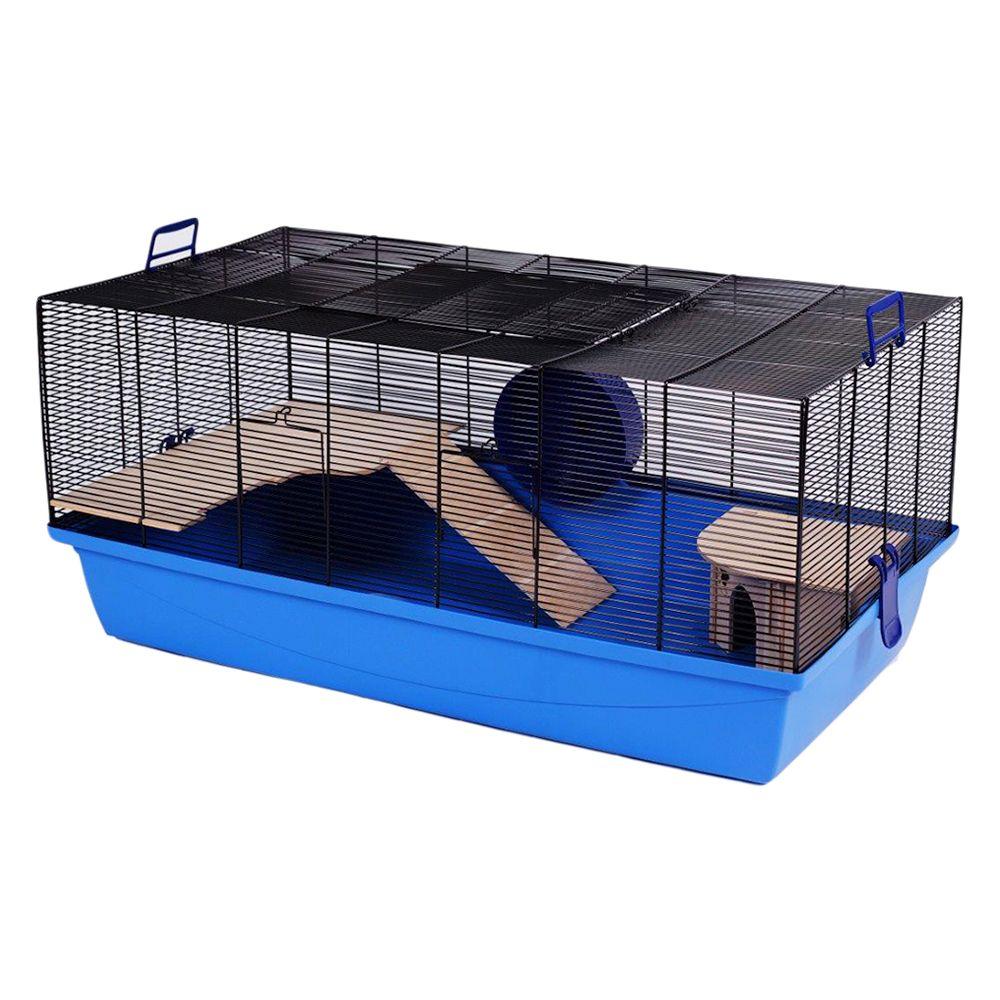 Barney Hamster Cage Blue: 100x54x45cm