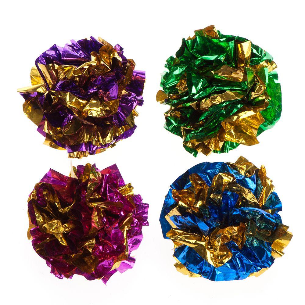 Image of £1.49 Rustling Toy Balls - 4 Balls | Cat / Cat Toys / Ball Toys / - 4054651646984