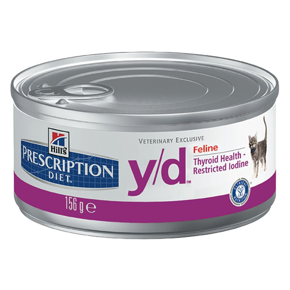 Foto Hill's y/d Prescription Diet Feline umido - 24 x 156 g Hill's Prescription Diet Tiroide