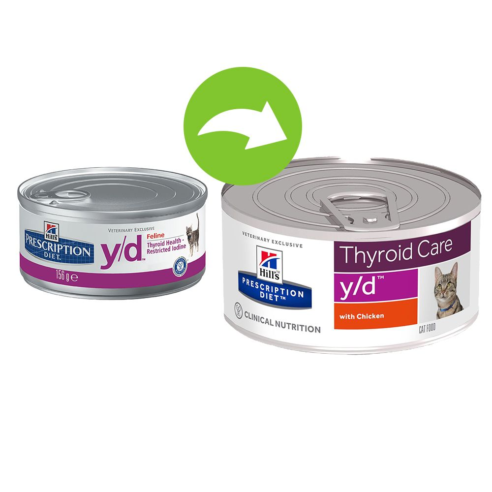 Foto Hill's y/d Prescription Diet Feline umido - 24 x 156 g Hill's Prescription Diet Tiroide