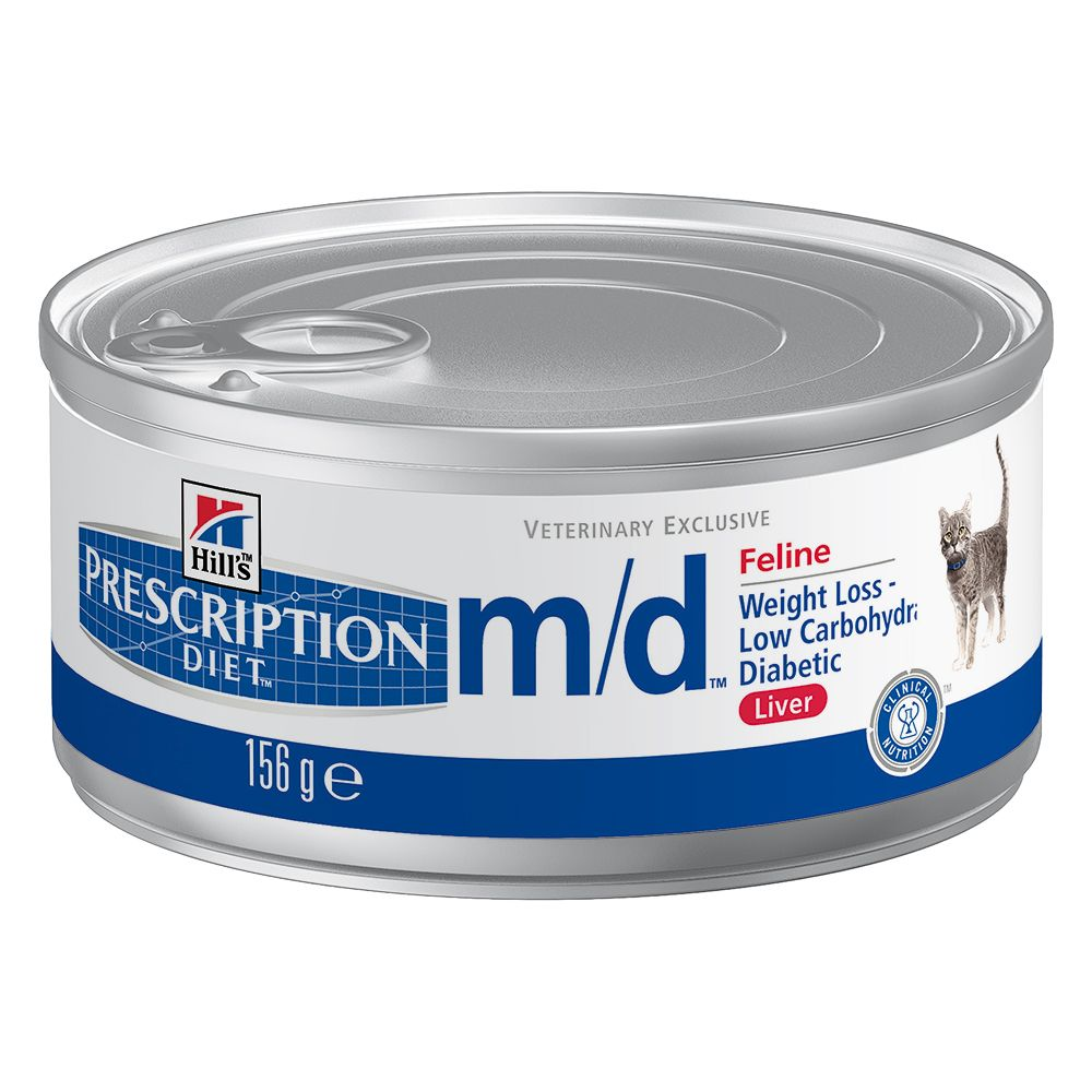 Foto Hill's m/d Prescription Diet Feline umido - 24 x 156 g Hill's Prescription Diet Diabete e sovrappeso