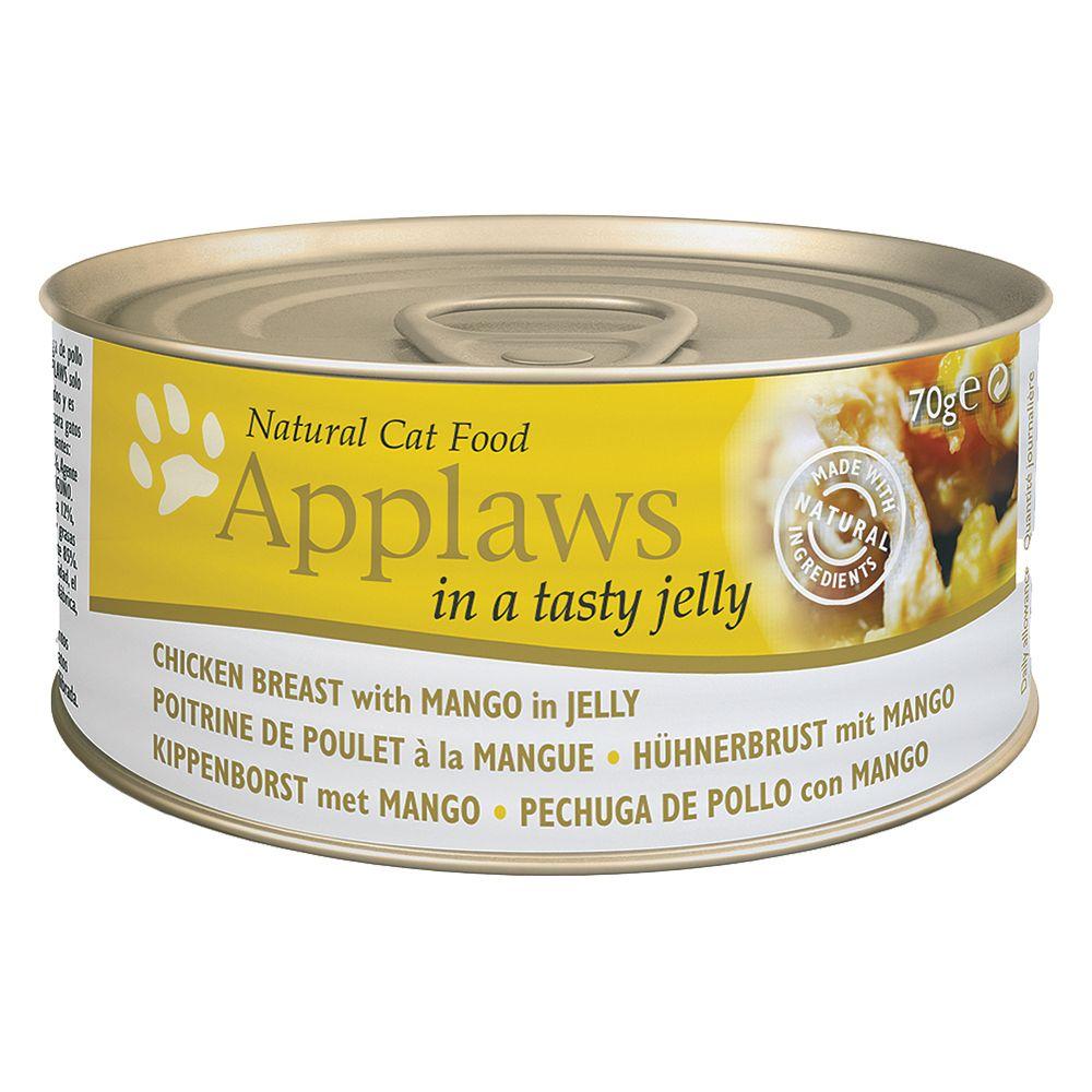 Applaws i gelé kattfoder 6 x 70 g – Tonfisk med havsalger