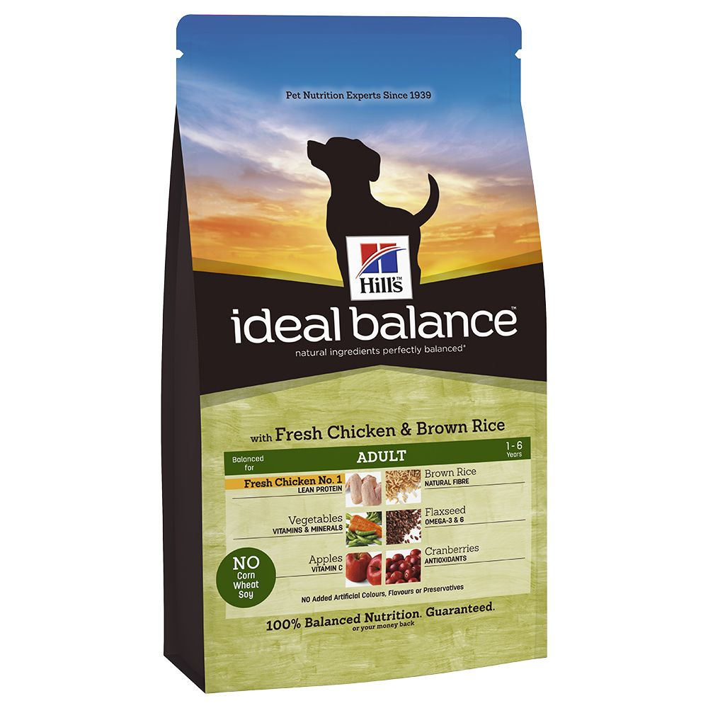 Hill's Ideal Balance Canine Adult - Chicken & Brown Rice - 12kg