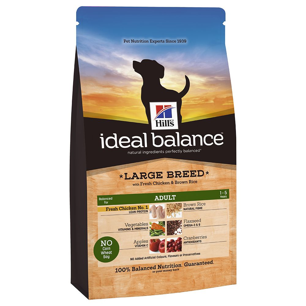Hill's Ideal Balance Canine Adult Large Breed - Chicken - 12kg