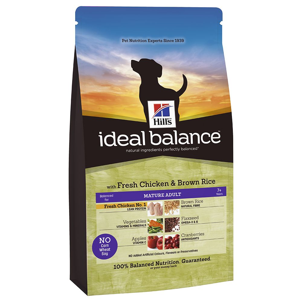 Hill's Ideal Balance Canine Mature - Chicken & Brown Rice - 12kg