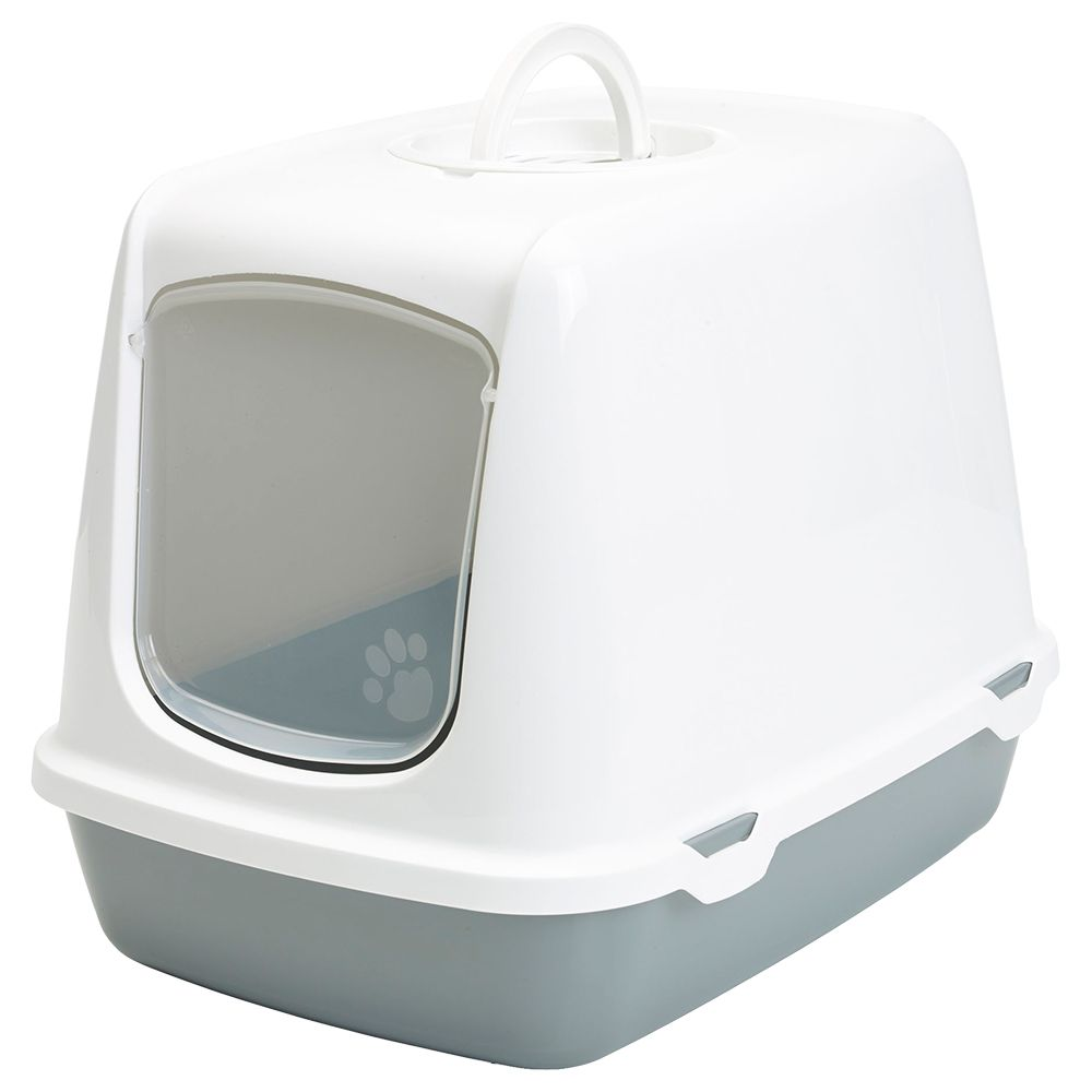 Savic Oscar White & Grey Litter Box
