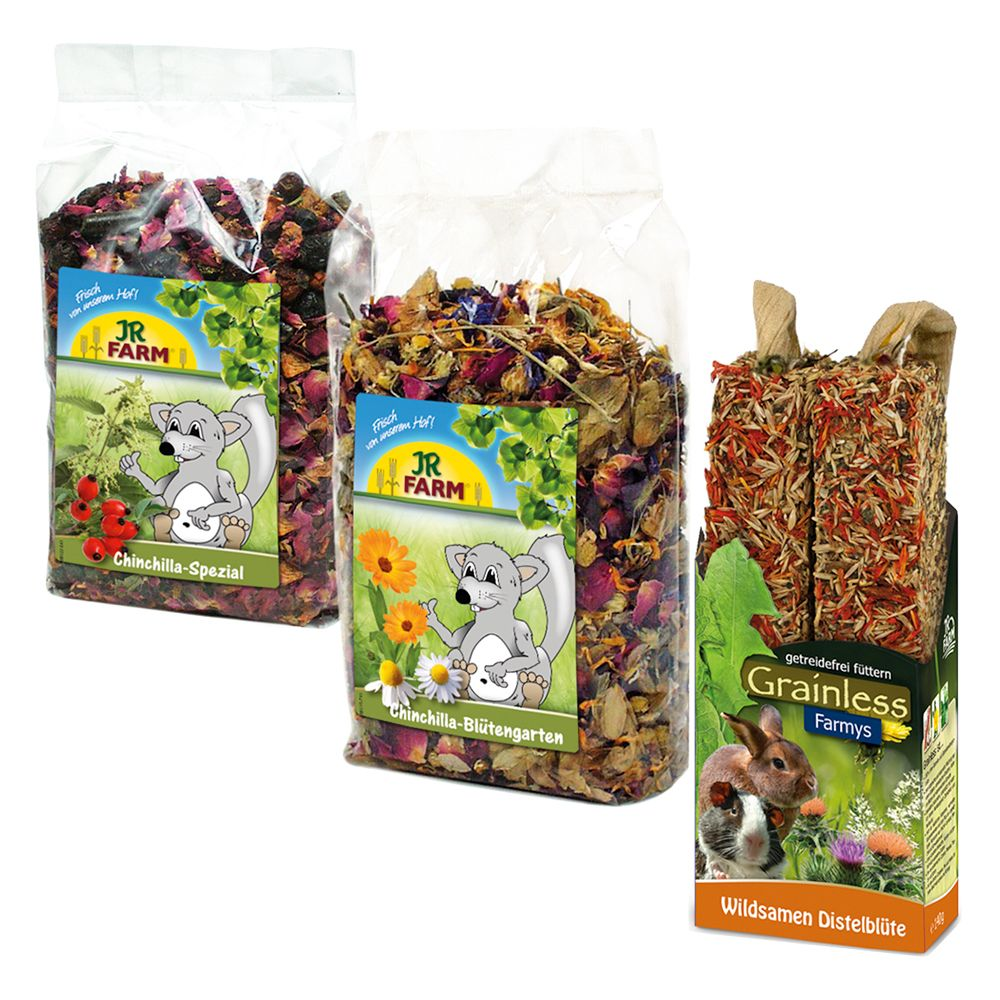 JR Farm Chinchilla Pack - Saver Pack: 2 x 3 snacks