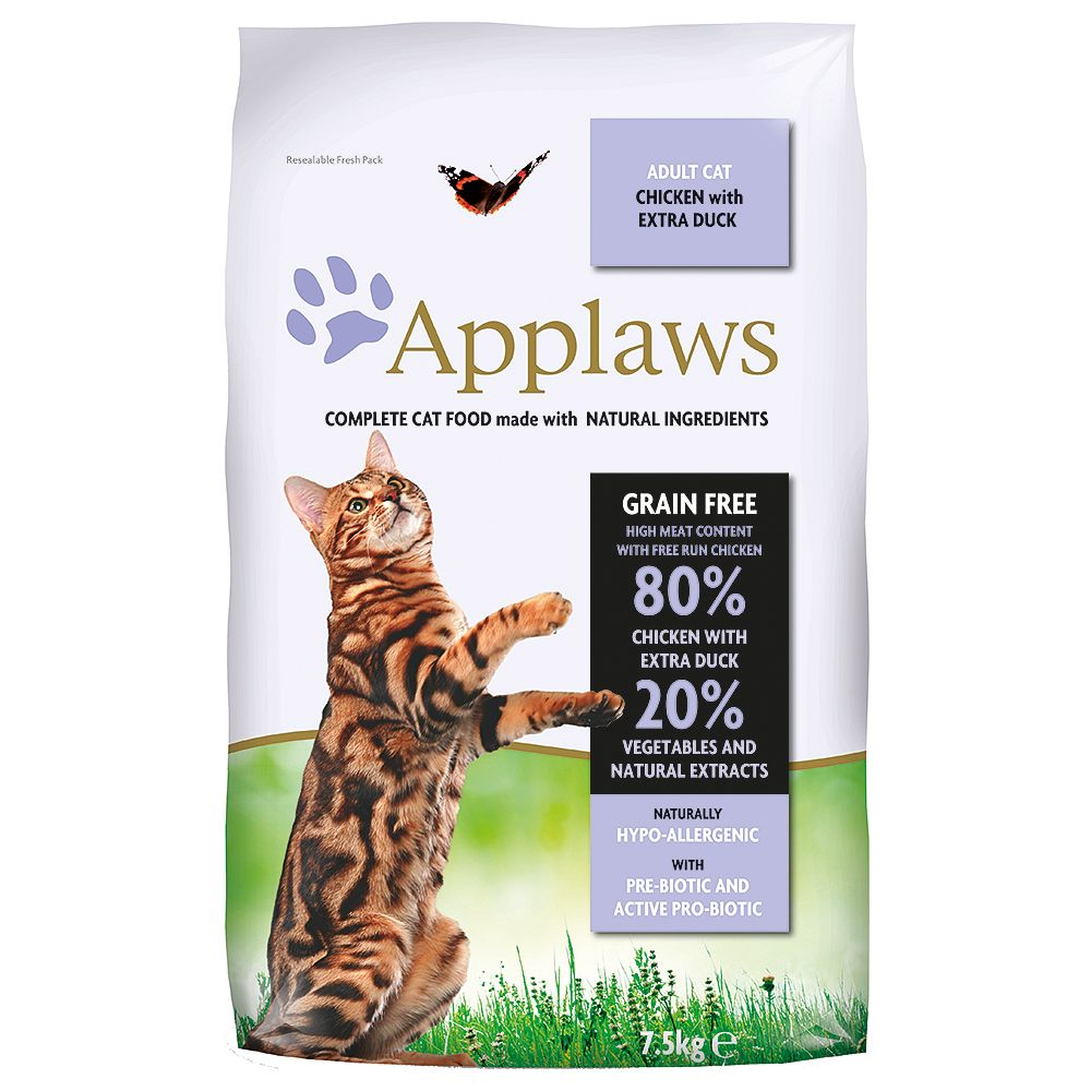 INOpets.com Anything for Pets Parents & Their Pets Applaws Chicken & Duck Cat Food - 7.5kg