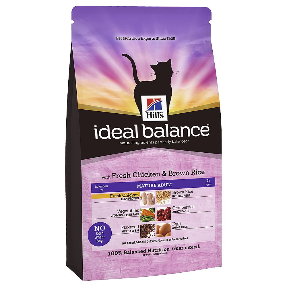 Hill's Ideal Balance Feline Mature - Chicken & Brown Rice - 2kg
