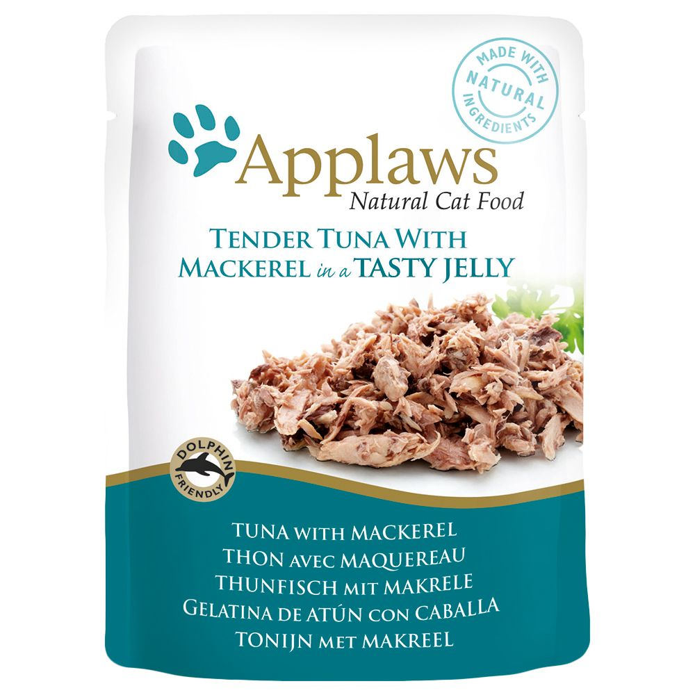 Tuna with Salmon Pouches in Jelly Saver Pack Applaws Wet Cat Food