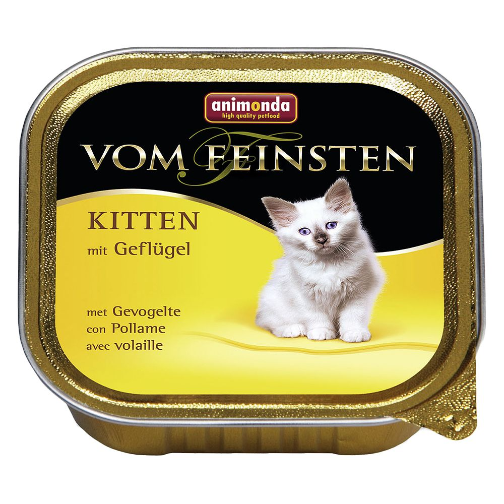 Animonda vom Feinsten Kitten 6 x 100g - With Poultry