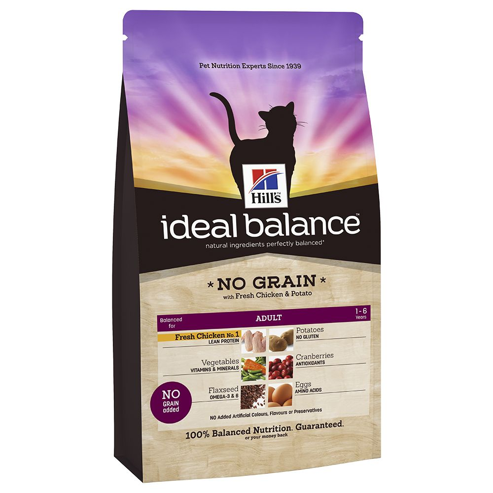 Hill's Ideal Balance Feline No Grain - Chicken & Potato - Economy Pack: 2 x 2kg
